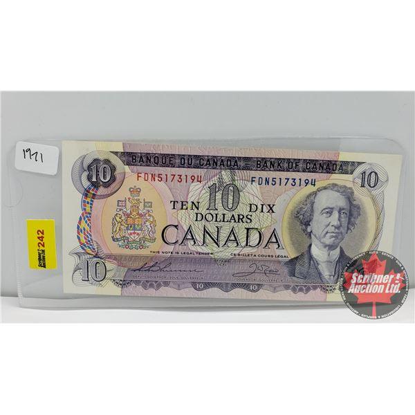 Canada $10 Bill 1971 : Thiessen/Crow FDN5173194