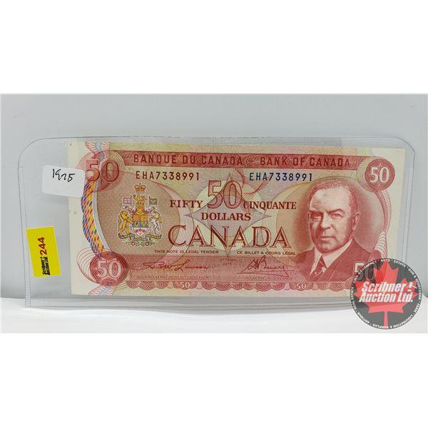 Canada $50 Bill 1975 : Lawson/Bouey EHA7338991