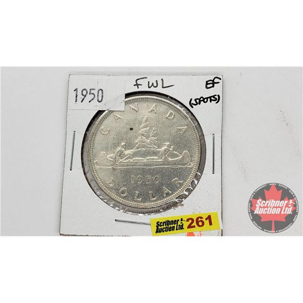 Canada Silver Dollar 1950FWL