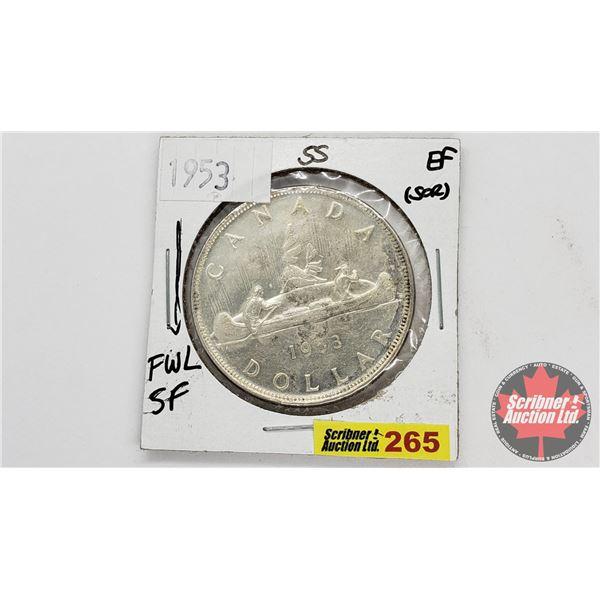 Canada Silver Dollar 1953FWL SF