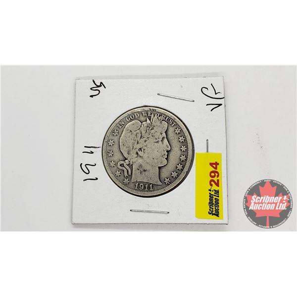 USA Half Dollar 1911
