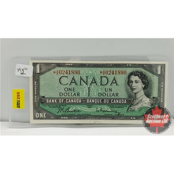 Canada $1 Bill 1954* Replacement : Beattie/Rasminsky *AA0241890