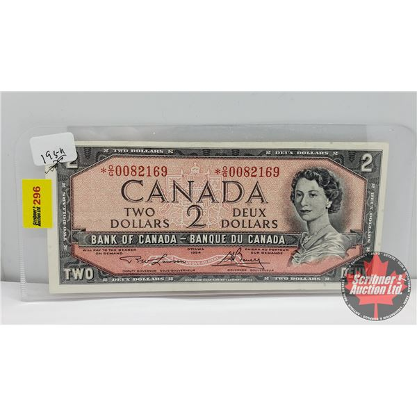 Canada $2 Bill 1954* Replacement : Lawson/Bouey *OG0082169