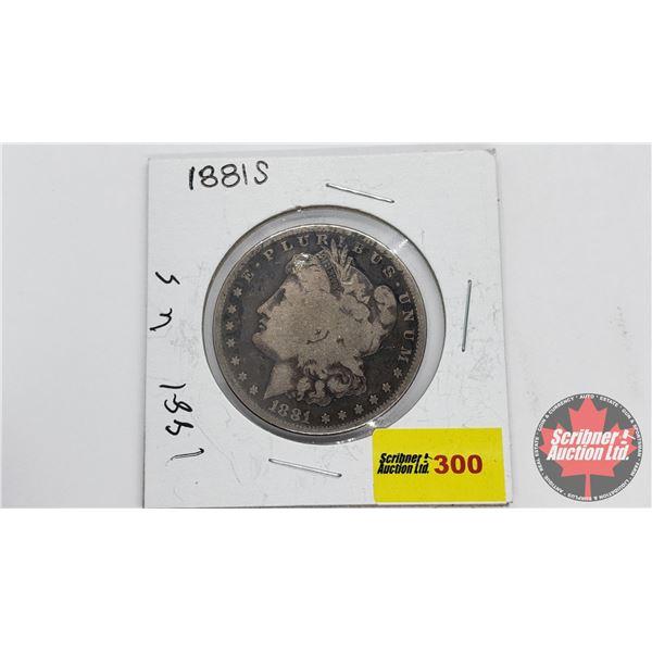 USA Morgan Dollar 1881S