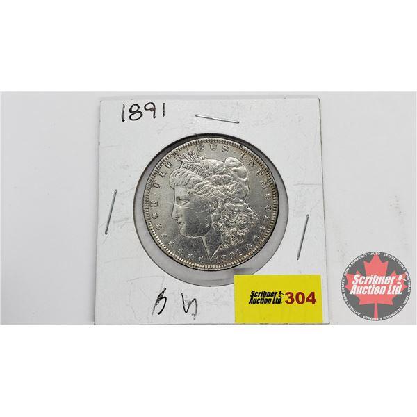 USA Morgan Dollar 1891