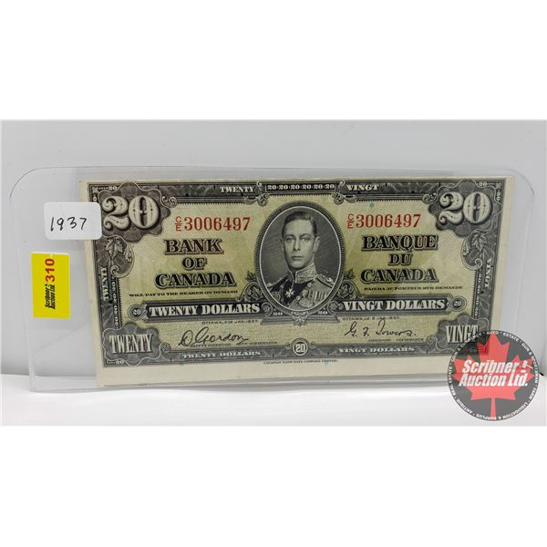 Bank of Canada $20 Bill 1937 : Gordon/Towers CE3006497