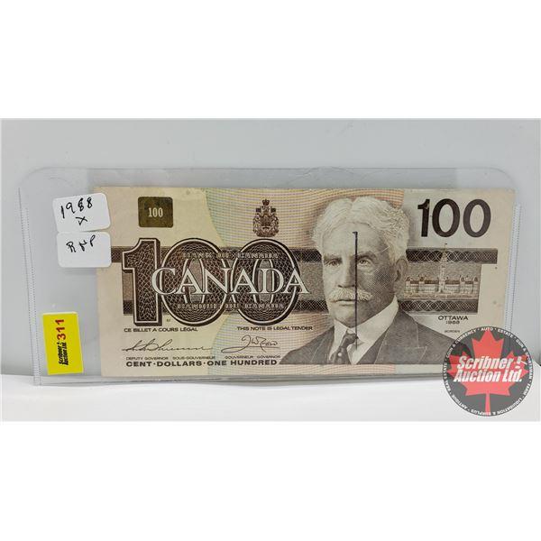 Canada $100 Bill 1988 * Replacement : Thiessen/Crow AJX2411807