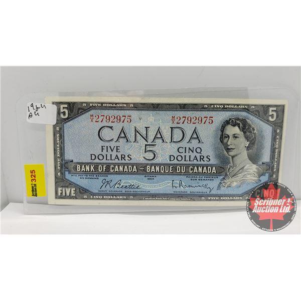 Canada $5 Bill 1954 : Beattie/Rasminsky MX2792975