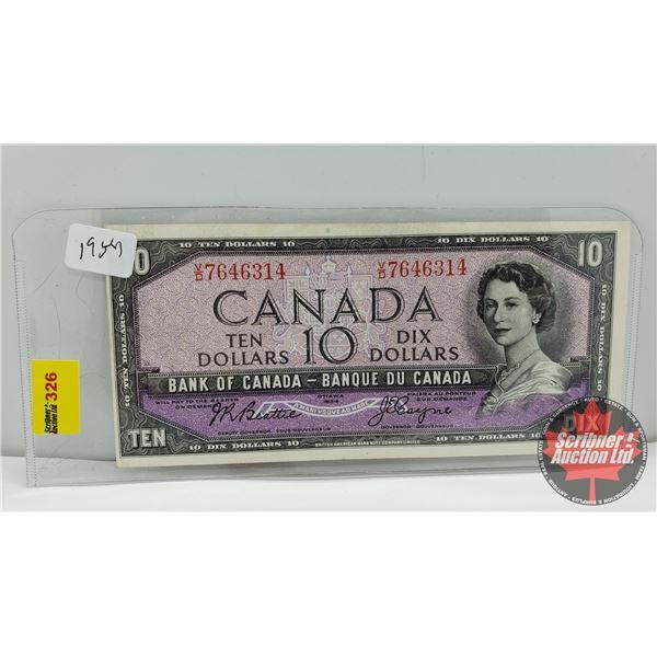 Canada $10 Bill 1954 : Beattie/Coyne VD7646314