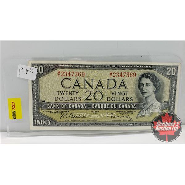 Canada $20 Bill 1954 : Beattie/Rasminsky WE2347369