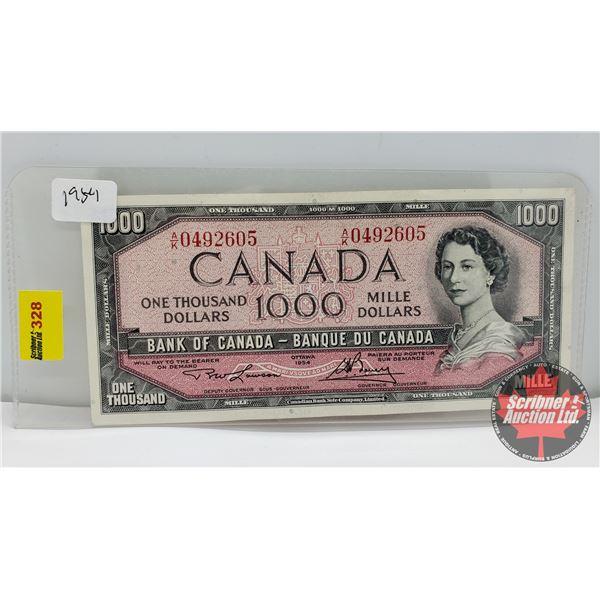 Canada $1000 Bill 1954 : Lawson/Bouey AK0492605
