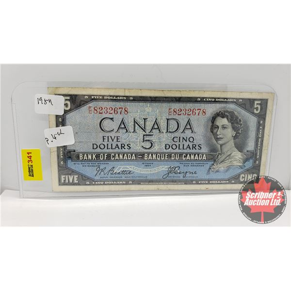 Canada $5 Bill 1954 : Beattie/Coyne FC8232678