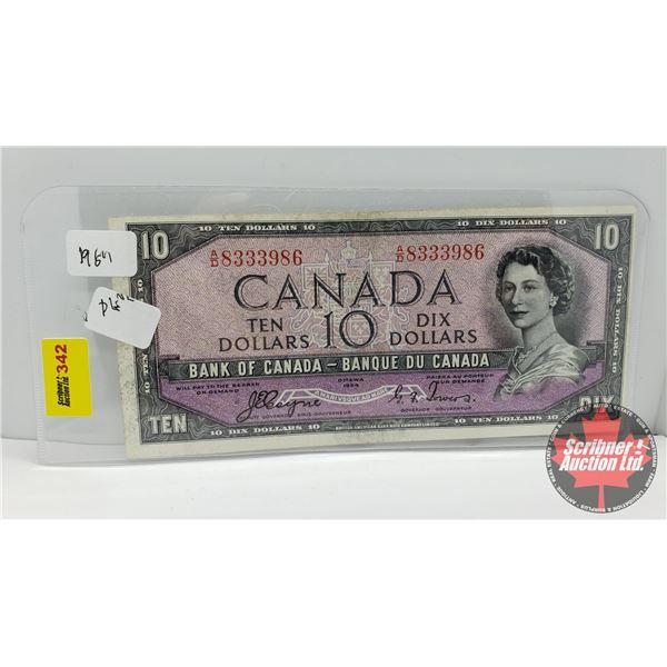 Canada $10 Bill 1954 : Coyne/Towers AD8333986