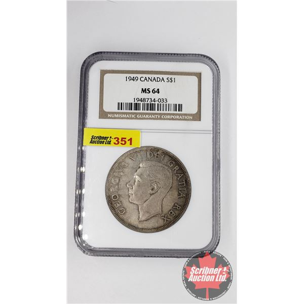 Canada Silver Dollar 1949 (NGC Certified MS-64)