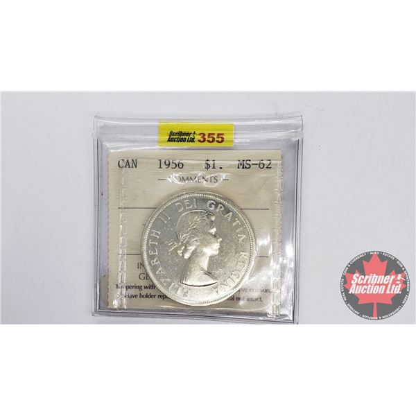Canada Silver Dollar 1956 (ICCS Certified MS-62)