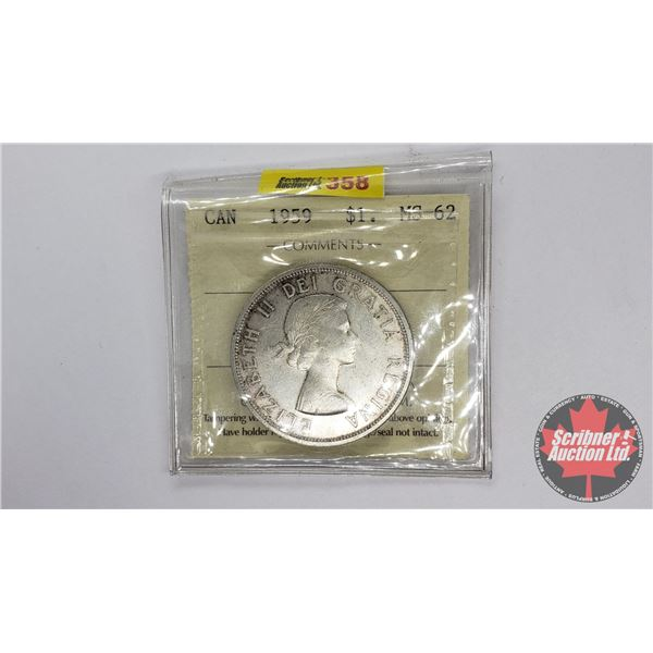 Canada Silver Dollar 1959 (ICCS Certified MS-62)