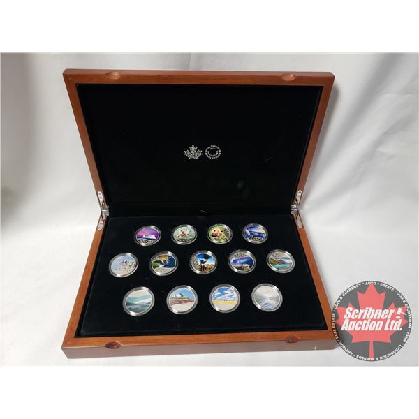 2017 $10 CELEBRATING CANADA'S 150TH ANNIVERSARY - PURE SILVER 13-COIN SET (Collaboration of Royal Ca