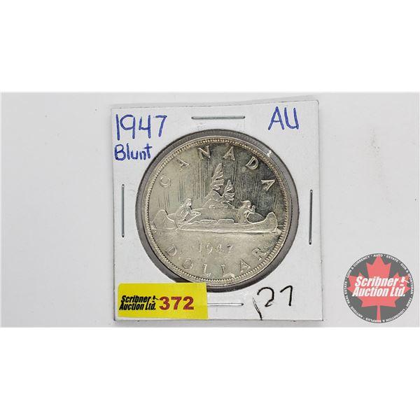 Canada Silver Dollar 1947 Blunt