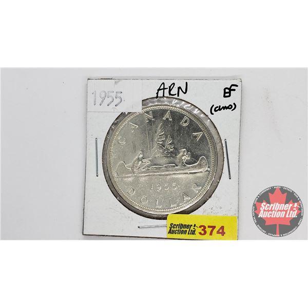 Canada Silver Dollar 1955ARN