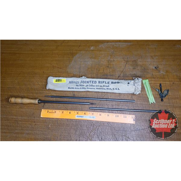 Marbles Jointed Rifle Rod Cleaning Kit - No. 9828 (.28 Caliber & up, 30 inch) Mich. USA (in orig Can
