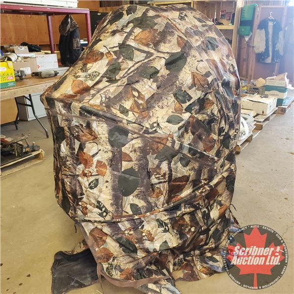 """Collapsible Blind (built in Seat) Camo (61""""H)"""