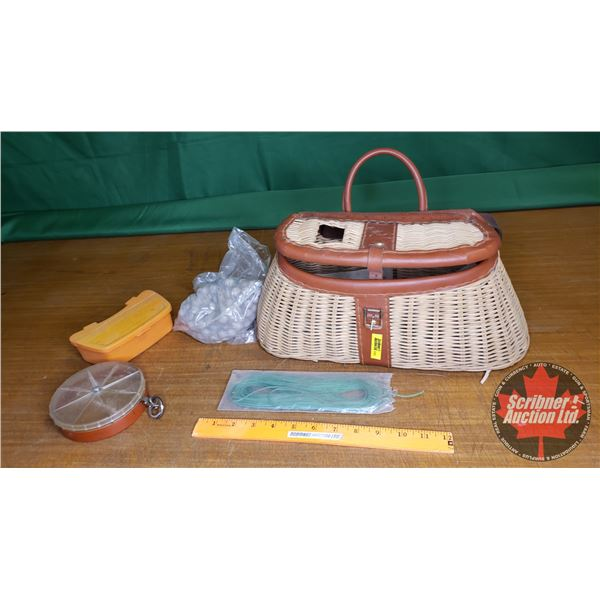 "Creel Fish Basket (Old Pal Bait Holder & Lure Weights) (Basket = 6-1/2""H)"