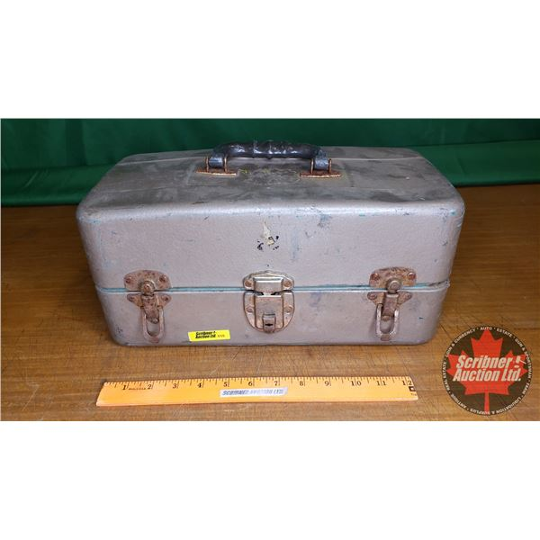 Metal Tackle Box w/Contents!