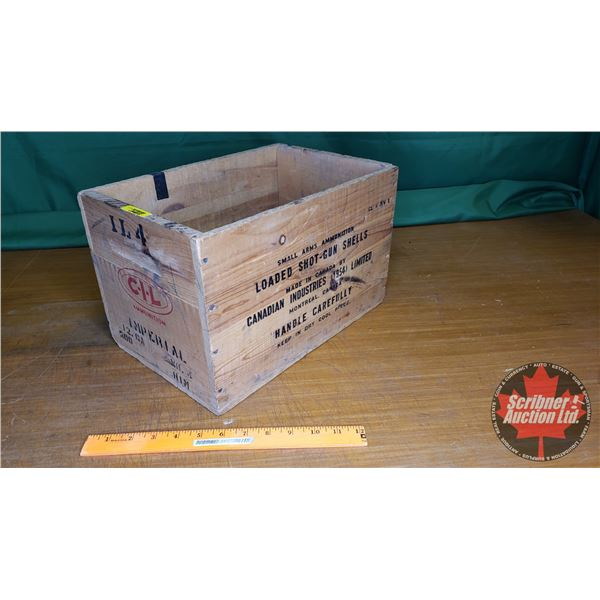 "CIL Imperial Wooden Ammo Crate (9""H x 9-1/2""W x 14""D) (NOTE: EMPTY BOX ONLY FOR COLLECTORS)"