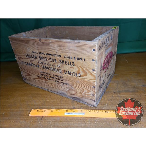 "CIL Imperial Ammo Wooden Crate (9""H x 9-1/2""W x 14""D) (NOTE: EMPTY BOX ONLY FOR COLLECTORS)"