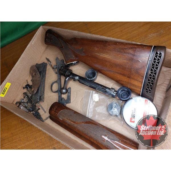 Tray Lot: Gun Parts & Fire Starter