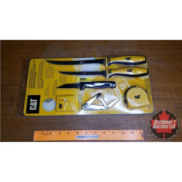 CAT 7 Piece Tackle Box Fillet Knife Kit
