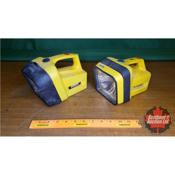 Flashlights (2): Ever Ready Dolphin (working) & Ever Ready Sport Gear (not working)