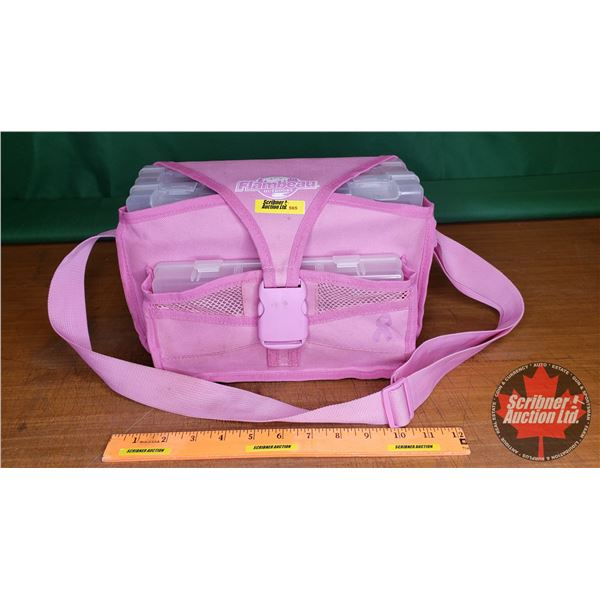 """Flambeau Pink Tackle Bag w/Contents (Ready to go!) (11""""L x 6""""W x 7""""H)"""