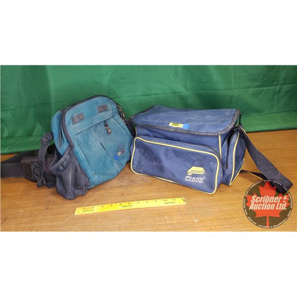 """Combo: Plano Tackle Systems Bag (14""""L x 9""""W x 8""""H) & Pike Sport Belt Bag"""