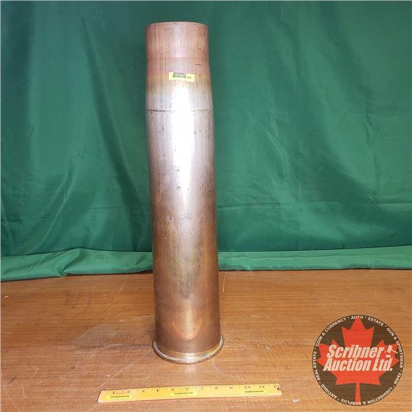 "BRASS: 105 Tank Round Casing (24""H x 6"" Dia)"