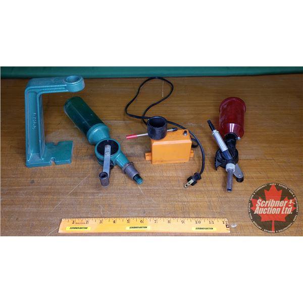 Tray Lot: Reloading Tools (RCBS Powder Dispenser, Lee Powder Dispenser & Lyman Powered Vibrator)