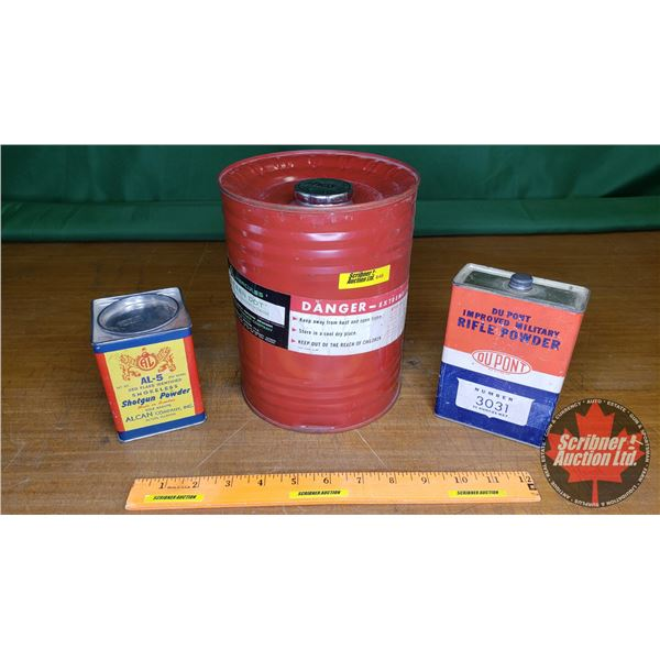 Vintage Gun Powder Tins (3) (NOTE: EMPTY TINS ONLY FOR COLLECTORS)