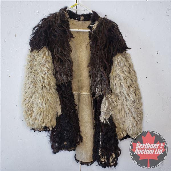 Alpaca Coat Antique Possibly Large