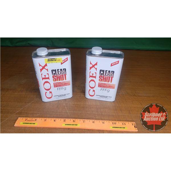 2lbs of Goex Clear Shot Black Powder Substitute FFFg
