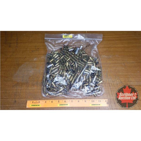BRASS: 2-1/4 lbs of Misc Pistol Brass