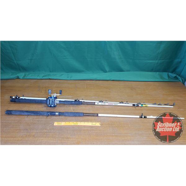 "Fishing Rod / Reel & Extra Handle ""Ugly Stick Catfish Shakespeare"" 8ft"