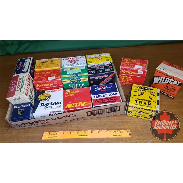 Tray Lot: Assorted Vintage Shotshell Ammo Boxes (15) (NOTE: EMPTY BOXES ONLY FOR COLLECTORS)