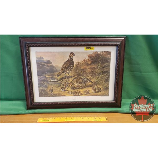 """Framed Print """"The Cares of a Family"""" by Currier & Ives (13-1/2"""" H x 19""""W)"""