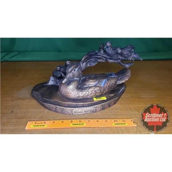 """Ducks Unlimited Statue """"Home Waters"""" by K.W. White 2011"""