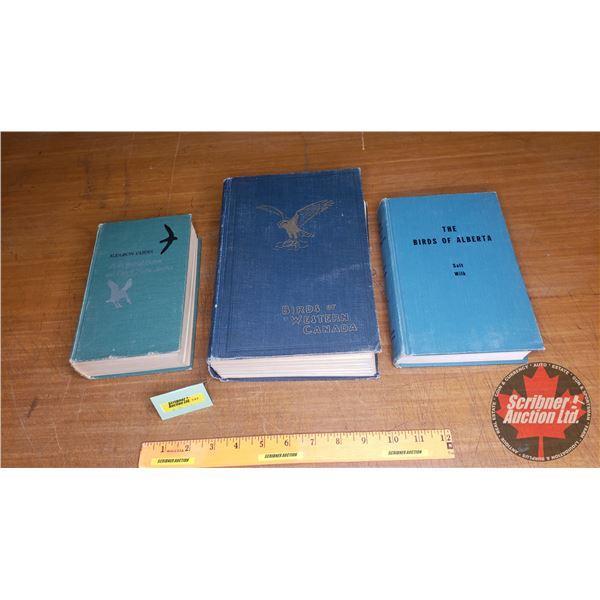 Hardcover Vintage Bird Books (3): Autobon Guides ; The Birds of Alberta ; Birds of Western Canada (p