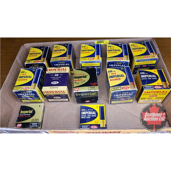 Tray Lot: Vintage Ammo Boxes (12) : CIL Imperial 10ga (NOTE: EMPTY BOXES ONLY FOR COLLECTORS)