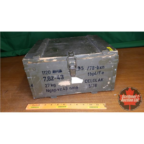Wooden Ammo Box 7.62 x 43 (NOTE: EMPTY BOX ONLY FOR COLLECTORS)