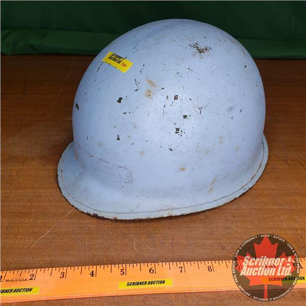 """U.N. Helmet (Painted Blue) (11"""" x 9"""")"""
