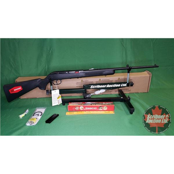 Rifle: New Surplus: Savage 64FXP Semi Auto 22LR w/Tasco Scope 4x15mm (S/N#3665952)