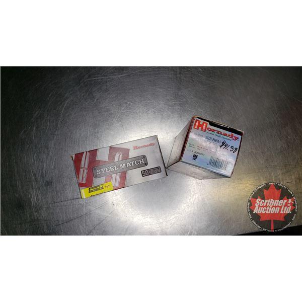AMMO: Hornady 223Rem (50 Rnds of 75gr BTHP) & (50 Rnds of 55gr SP)